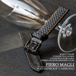 Ремешок PIERO MAGLI Waterproof Carbono Black